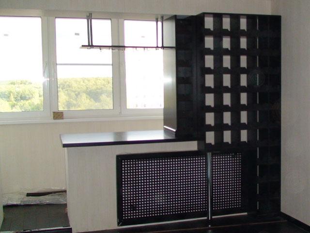 Барная стойка на балконе своими руками (фото).